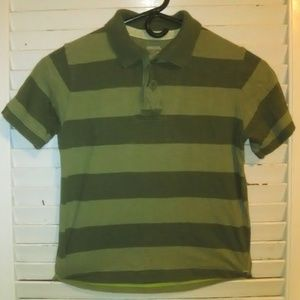 Boys Cherokee Golf Tee Size S Green Stripes